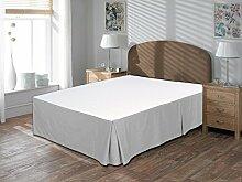 Komfort Bettwäsche 650tc 3-teiliges Bett Rock 100% ägyptische Baumwolle massiv, silbergrau, Kleines Doppelbe