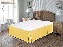 Komfort Bettwäsche 650tc 3-teiliges Bett Rock 100% ägyptische Baumwolle massiv, gold, Euro Double IKEA