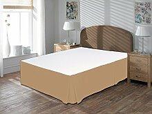 Komfort Bettwäsche 650tc 3-teiliges Bett Rock 100% ägyptische Baumwolle massiv, taupe, Kleines Doppelbe
