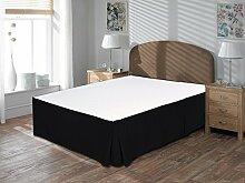 Komfort Bettwäsche 650tc 3-teiliges Bett Rock 100% ägyptische Baumwolle massiv, schwarz, Einzelbe