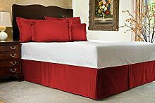 Komfort Bettwäsche 850tc 1Bett Rock 100% ägyptische Baumwolle Streifen, burgunderfarben, Einzelbe