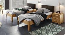 Komfort-Einzelbett 90x200 cm Kernbuche  mit