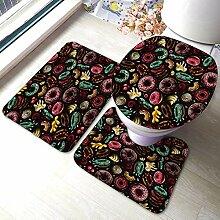 Komfort Flanell Bad Teppich Matten Set 3 Stück