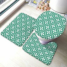 Komfort Flanell Badezimmer Teppich Matten Set 3