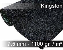 Komfort Kunstrasen Rasenteppich mit Noppen Kingston Anthrazit Mix in 19 Größen
