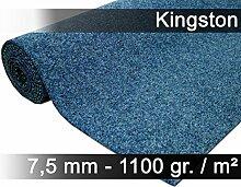 Komfort Kunstrasen Rasenteppich mit Noppen Kingston Blau Mix in 19 Größen