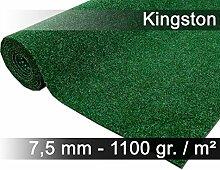 Komfort Kunstrasen Rasenteppich mit Noppen Kingston Grün Mix in 19 Größen