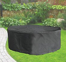 Komfort Schutzabdeckung für Sitzgruppe bis 320 cm, Schutzhülle rund, anthrazi