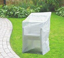 Komfort Schutzhülle für Stapelstühle Stuhl Schutzhaube 65x110x150 cm transparen