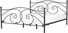 Komfortables Metallbett in romantischem Stil 160 x
