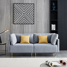 Komfortables modernes Stoffsofa 188 cm,