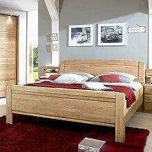 Komfortbett aus Eiche teilmassiv Bettkasten