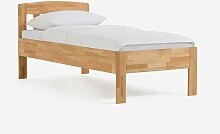 Komfortbett aus Kernbuche Massivholz geölt