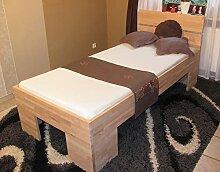 Komfortbett buche massiv 100x200 Holzbett