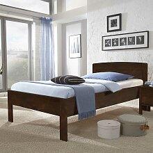 Komfortbett in Braun Buche Massivholz
