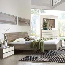 Komfortbett in Eiche dunkel 180x200 cm Liegefläche