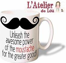 komisch Moustache Schnurrbart (zitiere aus Anchormann) keramisch Kaffeetasse Mug Kaffeebecher - Originelle Geschenkidee - Spülmaschinenfes