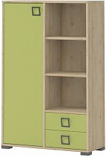 Kommode 26, Farbe: Buche / Olive - 134 x 86 x 37
