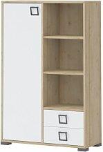 Kommode 26, Farbe: Buche / Weiß - 134 x 86 x 37