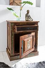 Kommode 55 x 35 x 70cm Massiv-Holz Nachttisch mit