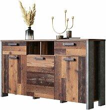 Kommode Betonoptik Dunkelgrau Old Wood Sideboard