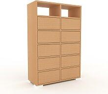 Kommode Buche - Design-Lowboard: Schubladen in