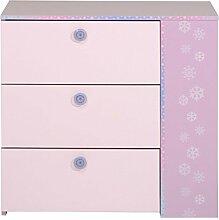 Kommode Cristin 8 Rosa Lila 79x77 cm Schubkastenkommode Schrank Schubkasten Mädchenzimmer Kinderzimmer