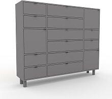 Kommode Grau - Lowboard: Schubladen in Grau &