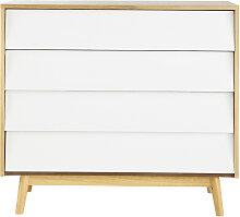Kommode im Vintage-Stil  mit 4 Schublade, weiß