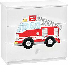 Kommode Kader mit 3 Schubladen und Feuerwehr Motiv