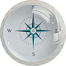 Kommode Knöpfe Blauer Kompass Badezimmerknöpfe 4