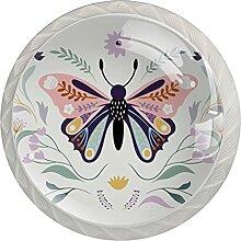 Kommode Knöpfe Bunter Schmetterling
