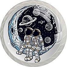 Kommode Knöpfe Mond Planet Kosmonaut