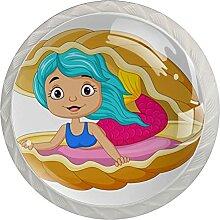Kommode Knöpfe Muschel Cartoon Meerjungfrau