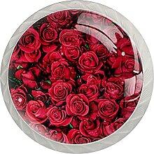 Kommode Knöpfe Rote Rose Badezimmerknöpfe 4