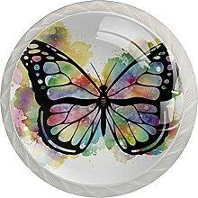 Kommode Knöpfe Schöne Schmetterlingsfarbe