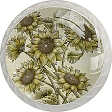 Kommode Knöpfe Sonnenblume Badezimmerknöpfe 4