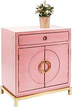 KOMMODE lackiert, antik Pink, Kupferfarben