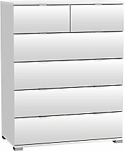 Kommode Laika weiß B 80 H 102 cm Kinderzimmer