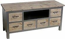 Kommode Lowboard Kolonial MDF Holz 51x107x36cm grau braun Kleinmöbel