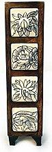 Kommode Mini Schrank Holz Schublade Keramik Möbel