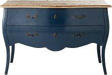 Kommode mit 2 Schubladen, nachtblau Haute couture