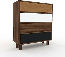 Kommode Nussbaum - Design-Lowboard: Schubladen in