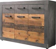 Kommode Old Wood  Kommode Graphit Grau Matera