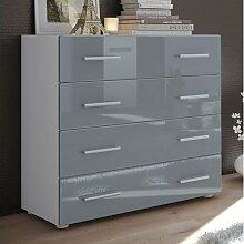 Kommode Pavos Vladon Farbe: Grau (glänzend)