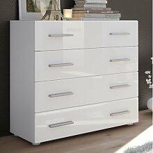 Kommode Pavos Vladon Farbe: Weiß (glänzend)