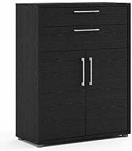 Kommode Prisme schwarz Büroschrank Highboard