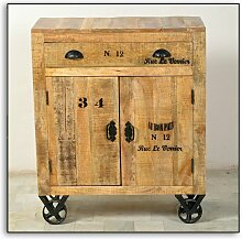 Kommode RUSTIC-14 80x40x95cm natur antik mit