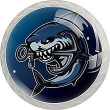 Kommode Schubladen Knopf Blauer Hai Anker