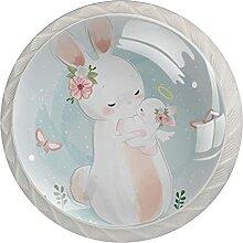 Kommode Schubladengriffe Süßes Weißes Kaninchen